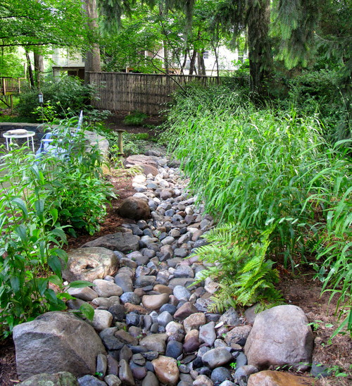 Storm-proof landscape, manage stormwater runoff, mitigate ...