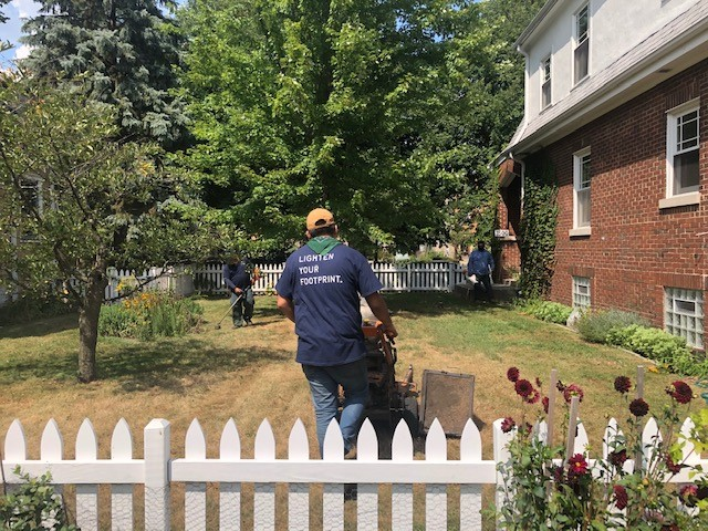 Greenwise maintaining lawn