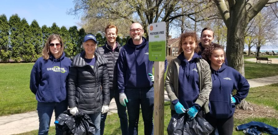 cleaning up pesticide-free park