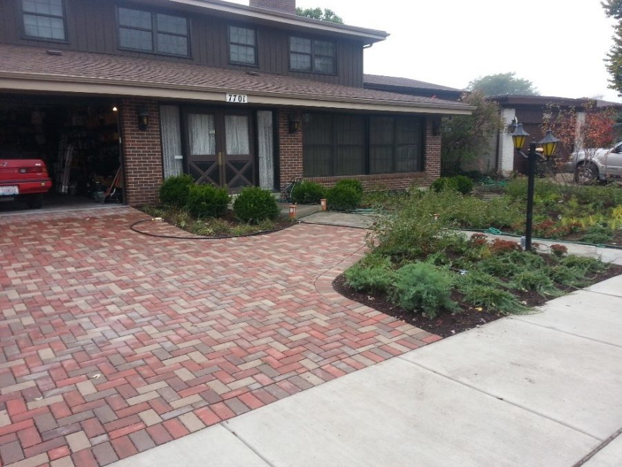 driveway after permeable pavers