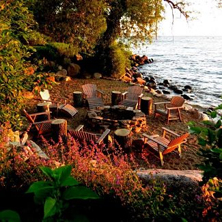 Evanston Lakefront Retreat With Fire Pit Greenwise Landscape