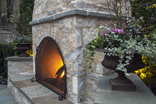 Customized masonry to create a beautiful fireplace in an Evanston home