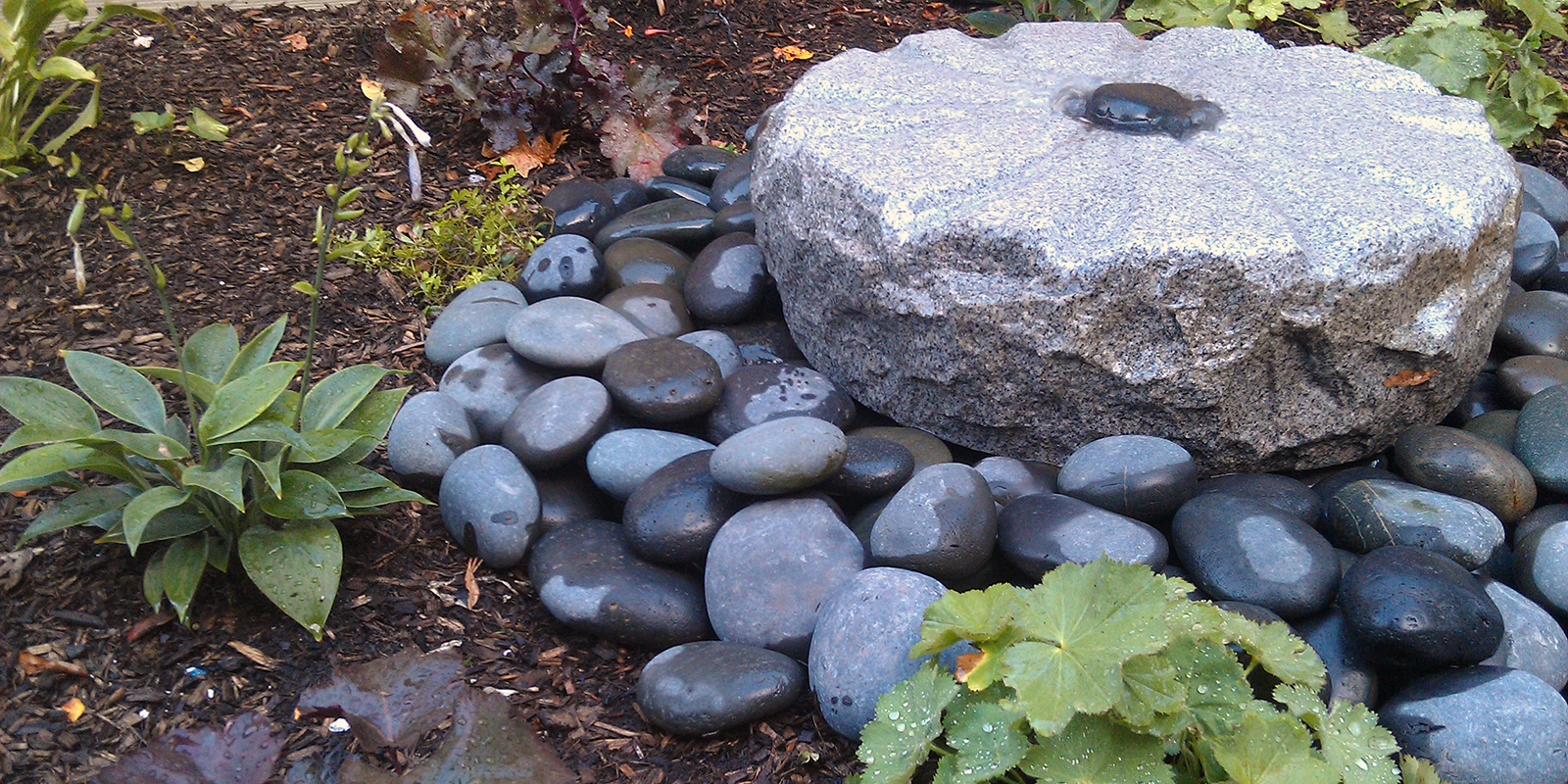 Basalt And Millstone Water Features Greenwise Landscape