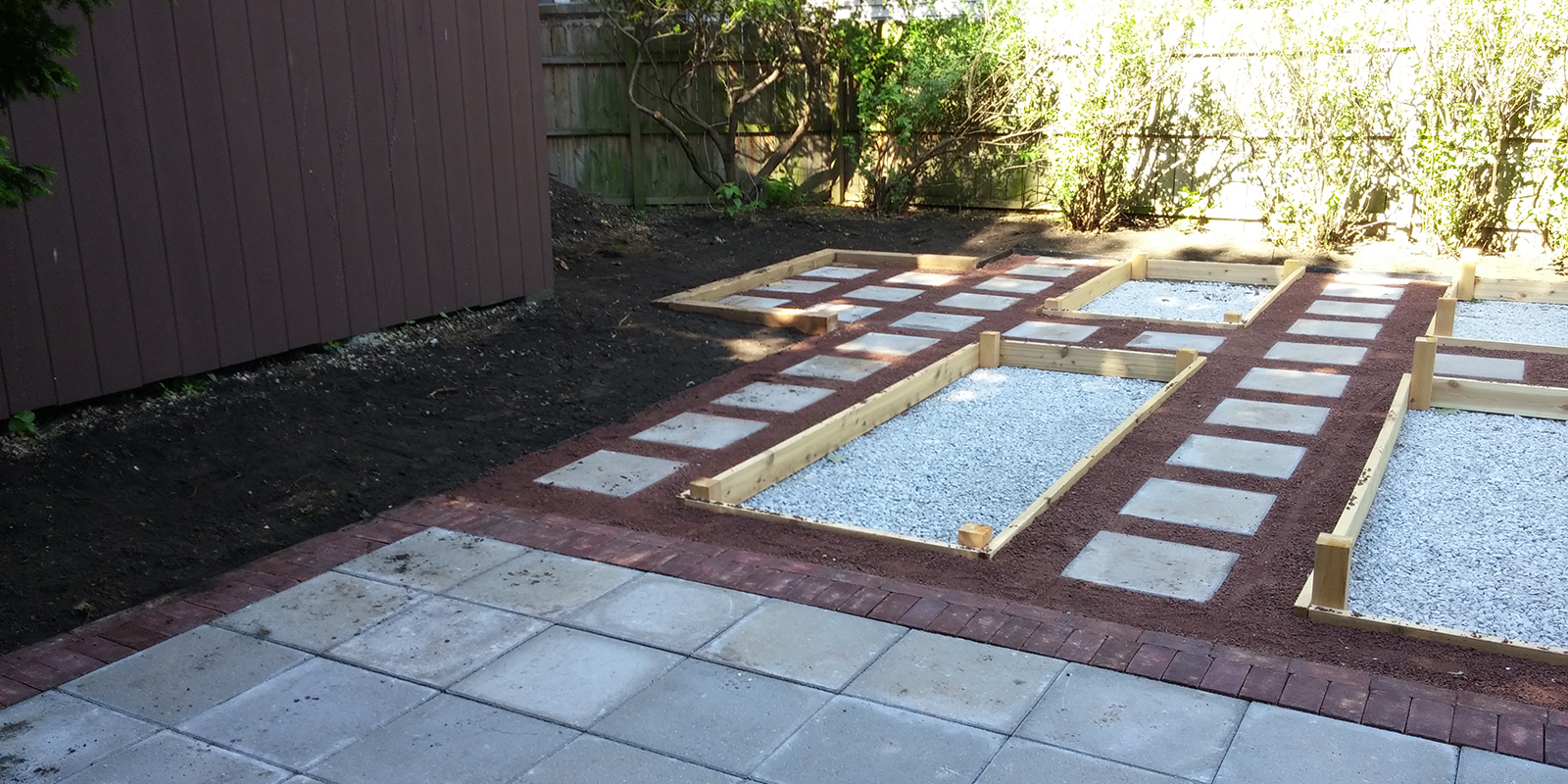 Raised Garden Beds and Permeable Driveway