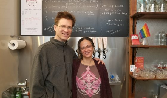 Regina and Doug at the Kombucha Brava tap room