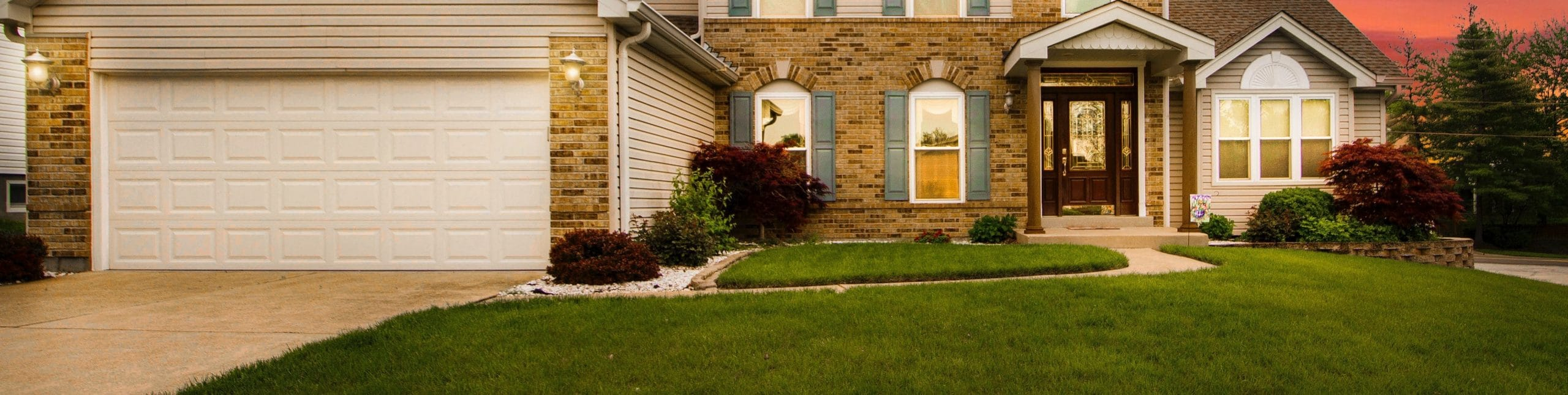 Suburban home with lawn care services in Chicago